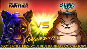Slot Battle Prowling Panther Vs Sumo Kitty sur Casino777