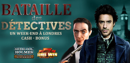 Slot Battle : James Win et Sherlock Holmes: The Hunt for Blackwood
