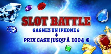 1.004 € et un iPhone 6 à se partager lors de la Slot Battle