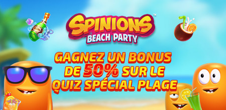 Spinions Beach Party : 50 % de bonus (250 € max) sur le casino777