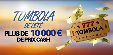 10.000 € de prix cash à gagner avec la tombola de l'été