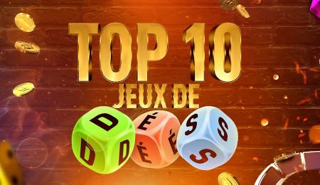 Top 10 jeux de dés: 1,5 million de pièces à  gagner sur le casino777
