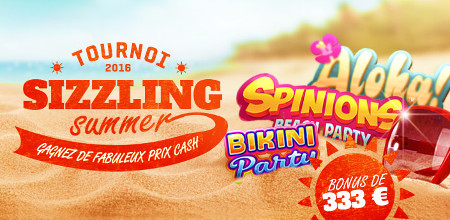 Tournoi Sizzling-Summer sur Casino777.be (Bonus de 333 €)