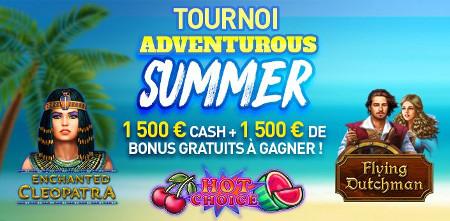 Du cash et des bonus à gagner lors du tournoi Adventurous Summer
