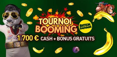 1.700 euros et des bonus à se partager lors du tournoi Booming
