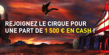 1.500 euros à gagner avec le tournoi du Cirque Hanté du casino777