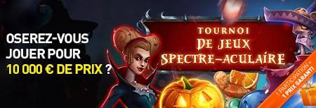Tournoi de jeux Spectre-Aculaire: 10.000  euros de prix à gagner sur le casino777