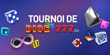 2.000 € de cash et des bonus avec le tournoi Dice 777