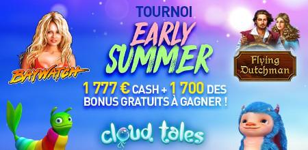 Tournoi Early Summer : 1.777 € cash et 1.700 bonus à gagner au Casino777