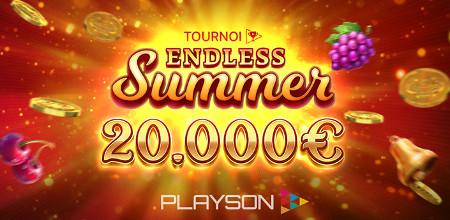 20.000 euros à gagner avec le tournoi Endless Summer