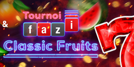 Tournoi Fazi Classic Fruits: Jusqu'à 1.000 euros à gagner sur le casino777