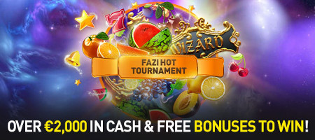 2.000 euros de bonus à gagner avec le tournoi Fazi Hot