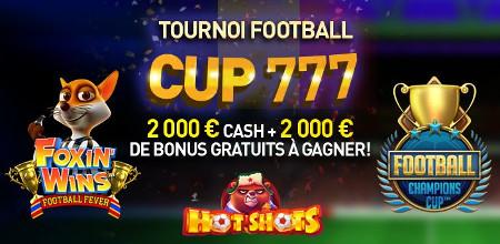 4.000 euros en cash et en bonus � gagner lors du tournoi Football