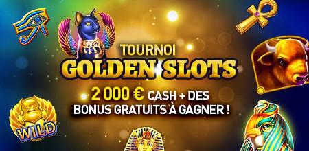 Tournoi Golden Slots: 2.000 euros cash à se partager au Casino777