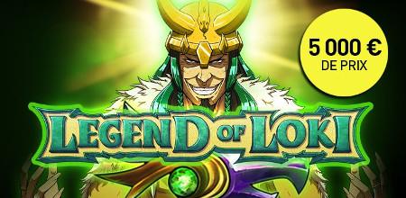 5.000 euros à gagner lors du tournoi Legend of Loki