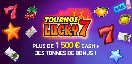 Tournoi Lucky 7 au casino 777 : Un tournoi à 1.500 euros