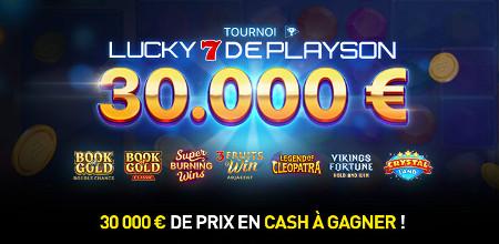 30.000 euros en jeu avec le Tournoi Lucky 7 de Playson
