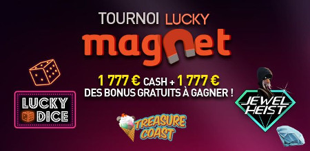 Du cash et des bonus à se partager lors du tournoi Lucky Magnet
