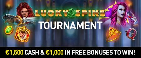 2.500 euros à gagner avec le tournoi Lucky Spins