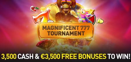 Tournois Magnificient 777 : Du cash et du bonus au quotidien au Casino 777