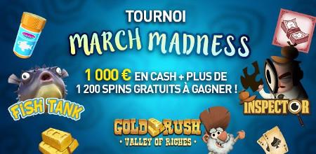 Tournoi March Madness du casino 777 : 1.000 euros cash et plus de 1.200 Free Spins