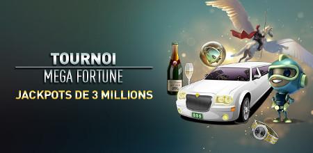 Tournoi Mega Fortune : Du cash et des spins gratuits à gagner au Casino777