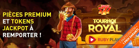 Tournoi Royal RubyPlay: Remportez jusqu'à 1.000 euros avec le casino777