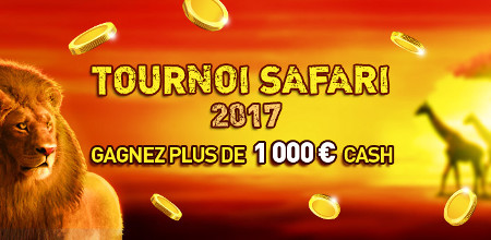 Tournoi Safari du Casino777 : 1.000 € cash à gagner