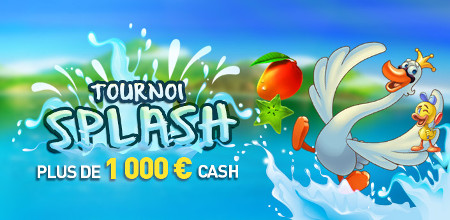 1.000 euros à se partager avec le tournoi Splash