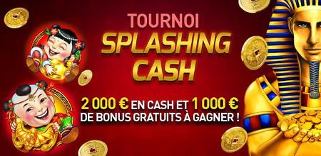 Tournoi Splashing Cash: 2.000 euros cash et 1.000 euros  de bonus à gagner
