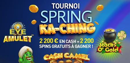 Tournoi Spring Ka-Ching : 2.200 euros en cash et 2.200 free spins au Casino 777