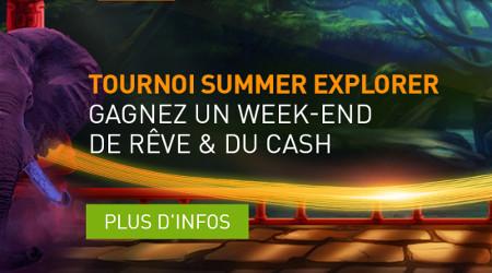 1.500 euros à gagner avec le tournoi Summer Explorer