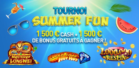 3.000 € de prix au tournoi Summer Fun du Casino777