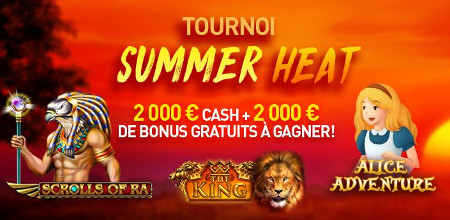Tournoi Summer Heat du Casino777 : Du cash et des bonus à gagner