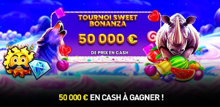 50.000 euros à se partager avec le tournoi Sweet Bonanza