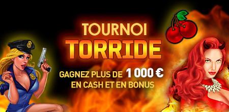 Tournoi Torride: Du cash et des bonus à gagner sur le casino777