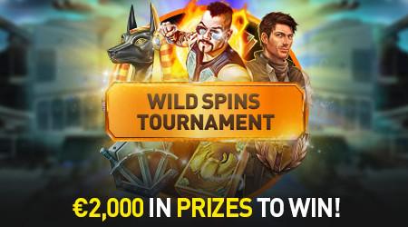 2.000 euros à se partager avec le tournoi Wild Spins