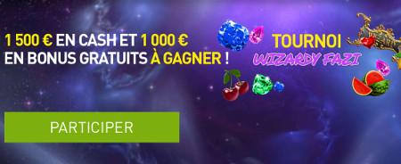 2.500 euros à se partager pendant le tournoi Wizardy Fazi