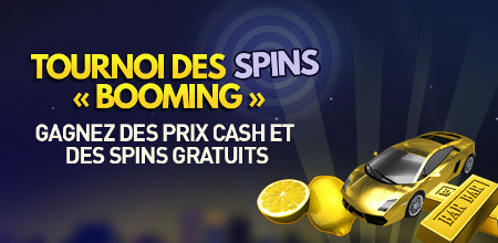 Tournoi des spins « Booming » au casino 777