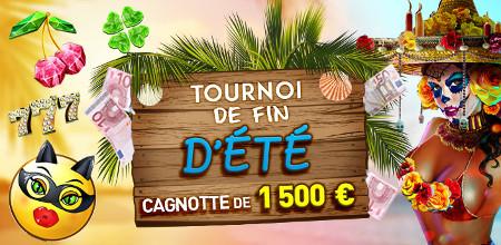 1.500 € à se partager avec le tournoi de fin d'été du casino777