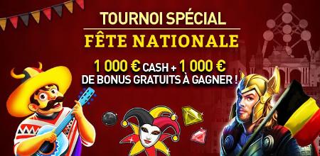 Du cash et des bonus à gagner lors du tournoi Fête Nationale au Casino777