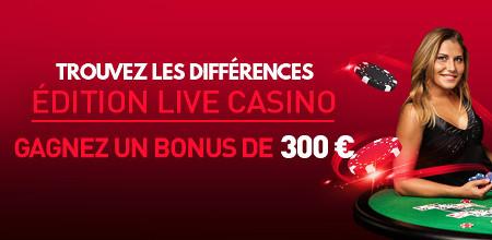 Trouvez les diff�rences : Gagnez un bonus casino de 300 �
