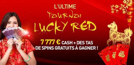Plus de 7.777 euros à se partager lors du tournoi Lucky Red