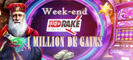 Week-end Red Rake: 1 million de gains vous attendent sur le casino777