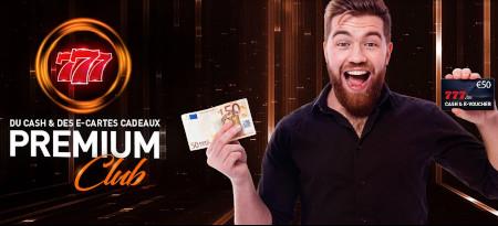 Jusqu'à trois fois plus de pièces Premium Club cette semaine sur le casino777