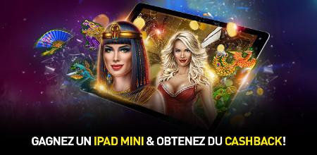 Un iPad mini et du cashback à gagner sur le casino777