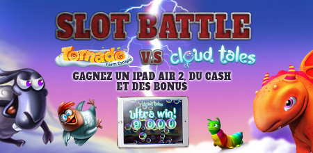 Slot Battle : Un iPad Air 2, du cash et des bonus sur Casino 777