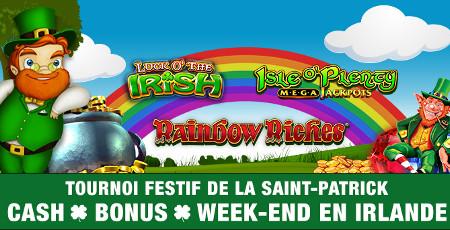 Un week-end pour deux et du cash à gagner pour la Saint Patrick
