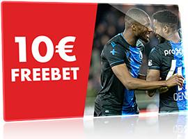 10 € de Freebet pour le match entre La Gantoise et le FC Bruges