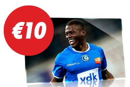 10 € de freebet en pariant sur La Gantoise x Antwerp